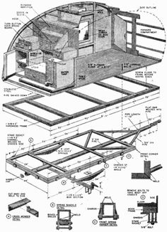 Teardrop camping trailer plans. Would like to make this someday.