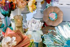 Exquisite Wed Mag Wildflower Linen Monarch Wedding Spring Tablescape 3