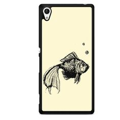 Fish Sketch TATUM-4232 Sony Phonecase Cover For Xperia Z1, Xperia Z2, Xperia Z3, Xperia Z4, Xperia Z5