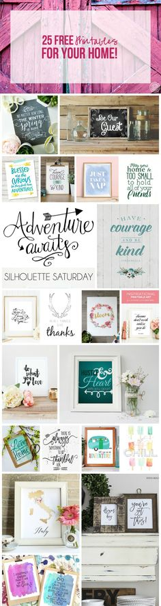 25 FREE Printables For Your Home! Free Prints, Free Printables For Home, Printable Letters Free, Free Printable Business Cards, Free Printable Quotes, Printable Pictures, Printable Wall Art, Free Poster Printables, Printable Labels