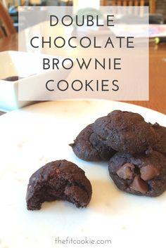 Yum...Double Chocolate Brownie Cookies - #glutenfree #vegan ...