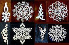 DIY paper snowflakes - for Ben Paper Folding Crafts, Diy Paper, Paper Art, Paper Crafts, Paper Snowflake Designs, Paper Snowflake Template, Christmas Love, Christmas Holidays, Christmas Crafts