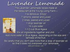 I can't wait to make this for the 4th of July. This lavender lemonade is so delicious; I had it at the Young Living Lavender Farm in Utah. ENJOY!