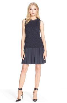 Rebecca Taylor Mixed Media Sleeveless Dress available at #Nordstrom