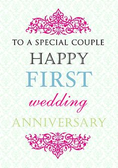 First Wedding Anniversary Card - Truly Madly Deeply First Marriage Anniversary Wishes, 1st Wedding Anniversary Quotes, Happy Wedding Anniversary Wishes, Happy One Year Anniversary, Anniversary Message, Anniversary Gifts For Parents, Anniversary Sayings, Anniversary Ideas, Funky Pigeon