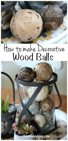 How to make decorative wood balls using wood veneer paper and foam balls. Easy…
