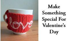 Valentine Inspirations crochet mug hug Crochet Supplies, Pattern Books, Be My Valentine, Hugs, Knit Crochet, Knitting, Projects, Big Hugs, Log Projects