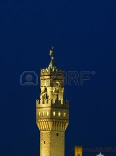 Arnolfo s Tower at night, Florence, Italy