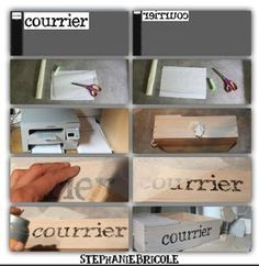 How to transfer an image on wood with parchment paper - Decupage & Transfert Y Otras Tecnicas - Diy And Crafts, Paper Crafts, Creation Deco, Diy Papier, Tips & Tricks, Diy Projects To Try, Decoupage, Handmade, Parchment Paper
