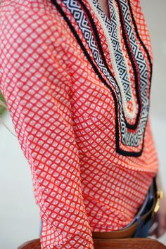 tory burch tunic detail