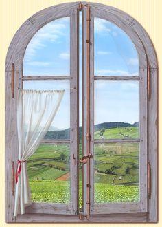 Trompe L'Oeil Window | Details about TROMPE L'OEIL FENETRE sur BOURGOGNE par Bernard SCHOLL