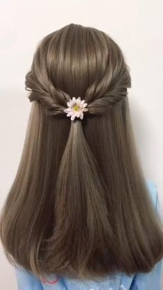 Easy Hairstyle Video, Easy Hairstyles For Long Hair, Spring Hairstyles, Diy Hairstyles, Hairstyles Videos, Updo Hairstyle, Popular Hairstyles, School Hairstyles, Creative Hairstyles