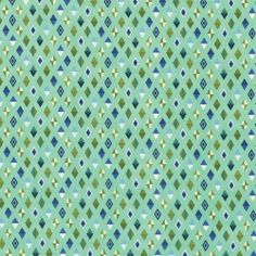 Diamonds & Rauten - Blue Raspberry Track Flags - Slow and Steady by Tula Pink - Patchworkstoffe
