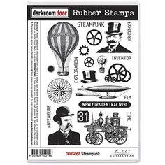 Rubber Stamp Set - Steam Punk