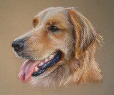 Custom Dog Portrait Chalk Pastel Drawing 5x7 by digsandthreads, $95.00