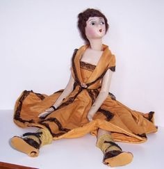 "1920s-BOUDOIR-DOLL ""Kissing"" Cubeb"