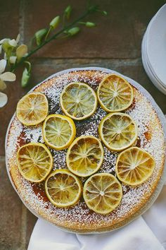cornmeal cake with candied lemons