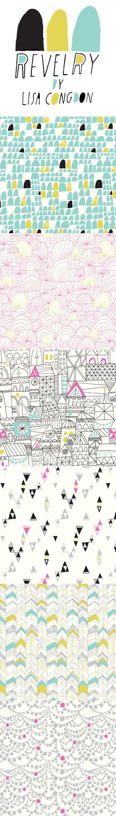 lisa congdon's Revelry collection for Cloud 9