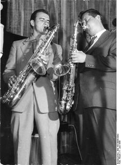 """First Public Jazz Event in the GDR"". It was a kind of music innovation in GDR. From the Jazz, people not only enjoy the music but also feel the new music type."