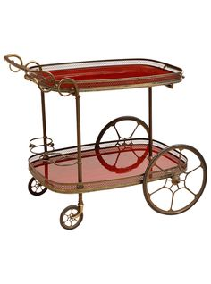 Serve up some holiday cheer with this French Vintage Tea or Liquor Bar Cart, c. 1935. As featured on The Weekly. | The HighBoy | blog.thehighboy.com