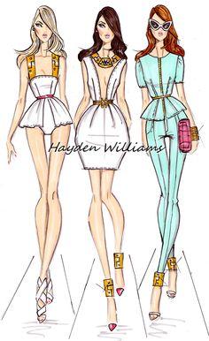 Hayden Williams Fashion Illustrations   Fashion Illustrator & Designer. Conquering the world one fashion ...