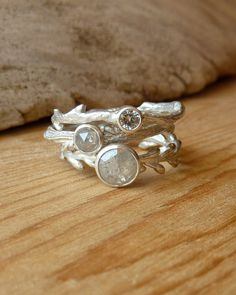 Etched in Nature Ring Set gift for bridesmaids <3