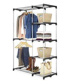 This Double Rod Closet System By Whitmor Is Perfect! #zulilyfinds