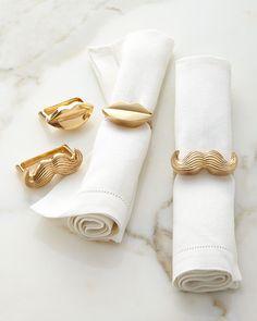 Mr. & Mrs. Muse Napkin Rings, Set of Four - Jonathan Adler
