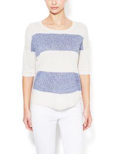 Linen Cotton Blend Shirttail Sweater from Elorie on Gilt