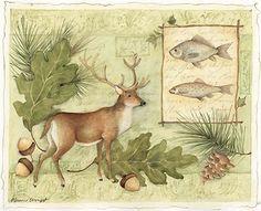 "Lodge ""A Corn Deer"", by Susan Winget Happy Birthday Artist, Images D'art, Art Et Nature, Deer Art, Chicken Art, Decoupage Vintage, Art Et Illustration, Spring Images, Fish Art"
