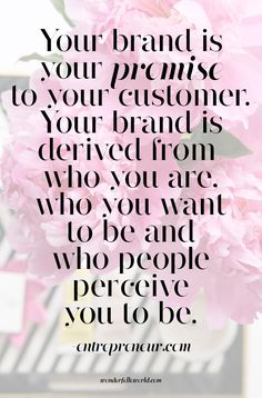Your brand is derived from who you are, who you want to be and who people…