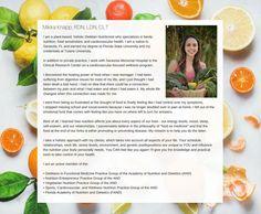 Milka Knapp, RDN, LDN, CLT  Sarasota, FL    Mikka specializes in family nutrition and plant based holistic healing.