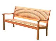 Brema Parkbank Leeds 3-Sitzer, Eukalyptus 161 x 69 x 87 cm Brema