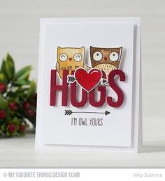 I'm Owl Yours Stamp Set and Die-namics, Big Hugs Die-namics - Vika Salmina  #mftstamps