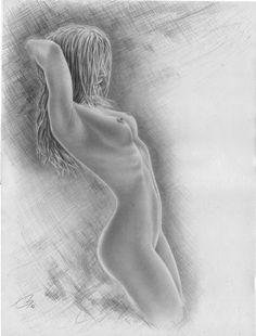 sexy zeichnen lernen -   nackte Frau seitlich - Tutorial