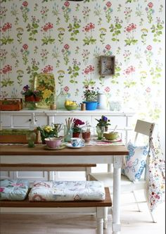 """""""Summer flowers"""" photographed by Joanna Henderson,  Homes and Antiques Magazine"""
