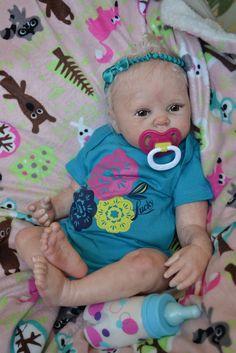 OOAK Reborn baby girl with 3d skin Ava  art doll artist newborn