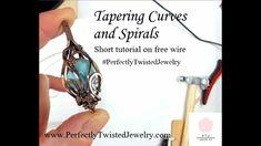 How to Taper Wire Spiral Tips - A Perfectly Twisted; Jewelry Tree, Wire Jewelry, Handmade Jewelry, Pendant Jewelry, Jewlery, Wire Tutorials, Jewelry Making Tutorials, Wire Wrapped Rings, Wire Wrapped Pendant