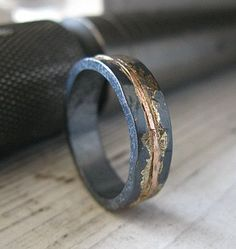 Mens Wedding Band Rustic Wedding Band Mens Wedding Ring Unique