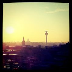 sunrise over the city of #liverpool