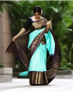 Discover recipes, home ideas, style inspiration and other ideas to try. Wedding Saree Blouse Designs, Pattu Saree Blouse Designs, Half Saree Designs, Kanjivaram Sarees Silk, Mysore Silk Saree, Indian Silk Sarees, Soft Silk Sarees, Saree Color Combinations, Saree Poses