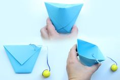 Make a cup catch game out of paper familie.de - Make a cup catch game out of paper – Familie.de Make a cup catch game out of paper – Familie. Easy Fall Crafts, Halloween Crafts For Kids, Papier Kind, Fall Activities For Toddlers, Summer Activities, Scarecrow Crafts, Hedgehog Craft, Puppet Crafts, Craft Party