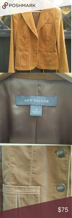 Ann Taylor Suede Jacket Blazer NWOT Formal Like new! It's super cute and super nice! Perfect addition to a casual outfit to add a little class! Ann Taylor Jackets & Coats Blazers
