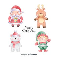 A selection of high quality graphic resources chosen by Freepik for personal and commercial use. Discover thousands of vectors, photos and PSD files. Printable Christmas Decorations, Christmas Card Template, Christmas Clipart, Illustration Noel, Christmas Illustration, Watercolor Illustration, Christmas Design, Christmas Art, Christmas Drawing