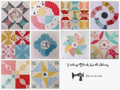 Charise Creates: Vintage Block Quilt Along ~ Spring Blossom #10 - Find me at Sew Mama Sew!