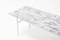 Alcantara wood mobilier en alcantara roulé par Nendo