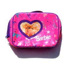 Pink Plastic Barbie Girl Confetti Makeup bag / by deaddaisyvintage