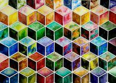 #cube #color #myart #art #color #verge #arh #form #variety #arh #illustration