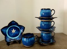 Hey, I found this really awesome Etsy listing at https://www.etsy.com/listing/245989099/demitasse-teacups-cobalt-blue-pottery