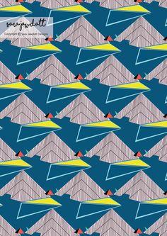 architectural surface pattern design by sara jawdatt